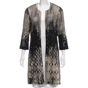 Save The Queen Coated Open Knit Cardigan